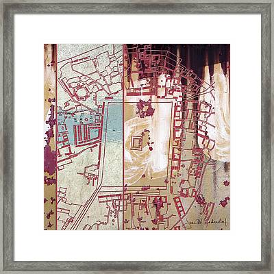 Maps #27 Framed Print by Joan Ladendorf