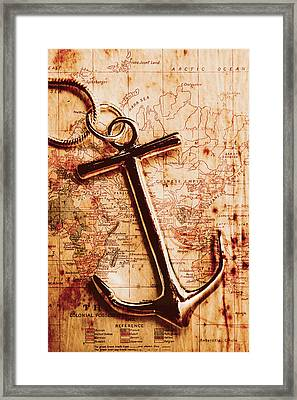 Maps And Anchors Fine Art Framed Print by Jorgo Photography - Wall Art Gallery