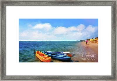 Mar Beach Framed Print by Shirley Stalter
