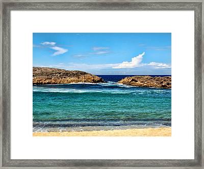 Mar Chiquita North Coast Puerto Rico Framed Print by Frank Feliciano