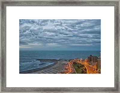 Mar Del Plata - Argentina Framed Print by Hans Wolfgang Muller Leg