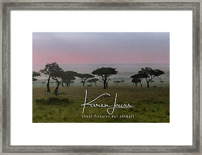 Framed Print featuring the photograph Mara Dawn by Karen Lewis