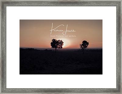 Framed Print featuring the photograph Mara Morning by Karen Lewis