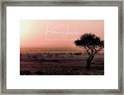 Framed Print featuring the photograph Mara Pink Dawn  by Karen Lewis