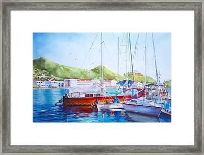Maragot Harbor Framed Print by Laura Lee Zanghetti
