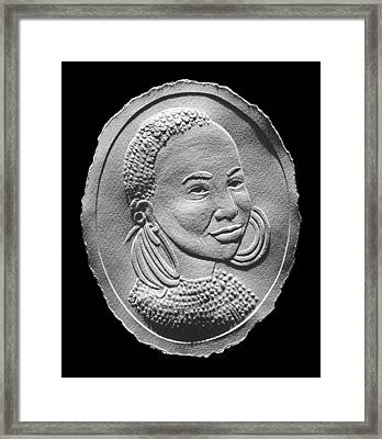 Marakwet Tribe Woman Relief Portrait Framed Print by Suhas Tavkar