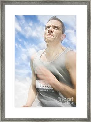 Marathon Motions Framed Print