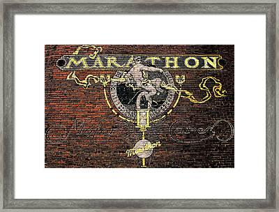 Marathon Motor Cars Framed Print by Joseph Sassone