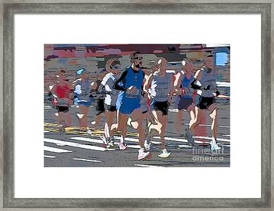 Marathon Runners I Framed Print by Clarence Holmes