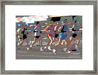 Marathon Runners II Framed Print by Clarence Holmes