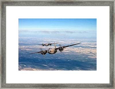 Marauder Twoship Framed Print by Peter Chilelli