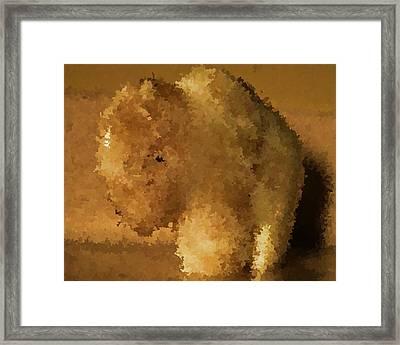 Marble Bison Framed Print