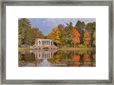 Marble Bridge At Catherine Park Framed Print by Russian School