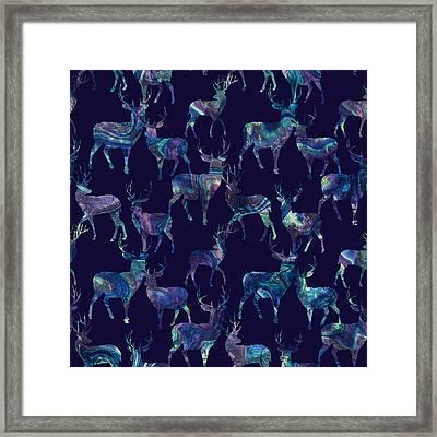 Marble Deer Framed Print by Varpu Kronholm