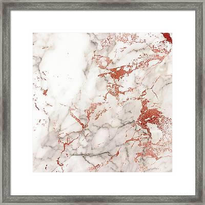 Marble Gold 4 Framed Print