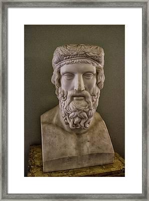 Marble Head Framed Print by Martin Newman