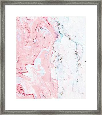 Marble Love Framed Print