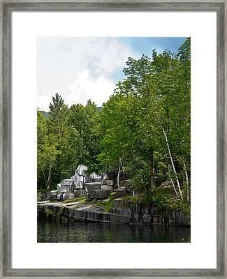 Marble Quarry In Dorset, Vermont Framed Print by Lynne Albright