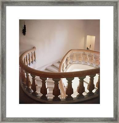 Marble Spiral Staircase Framed Print by Horst P Horst