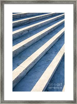 Marble Steps, Jefferson Memorial, Washington Dc, Usa, North America Framed Print by Paul Edmondson