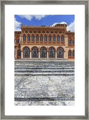 Marble Steps Leading To Mansion Framed Print by Edward Fielding
