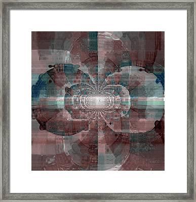 Marble Top Framed Print by Fania Simon