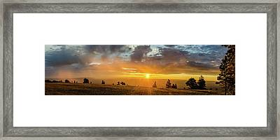 Marble View Sunrays Framed Print