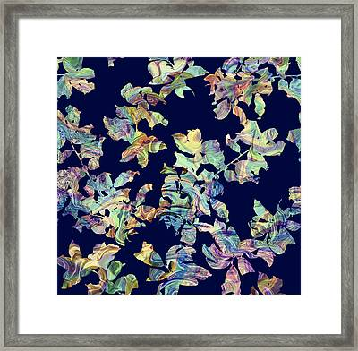 Marbled Branches Framed Print by Varpu Kronholm
