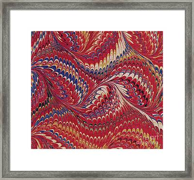 Marbled Endpaper Framed Print by English School