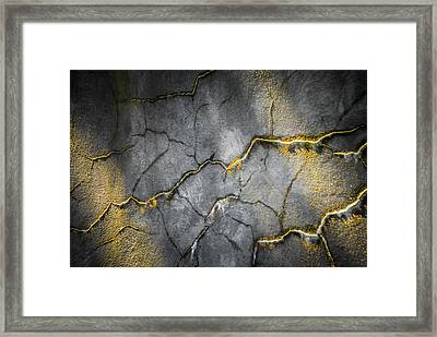 Marbled Lightning Framed Print by Optical Playground By MP Ray