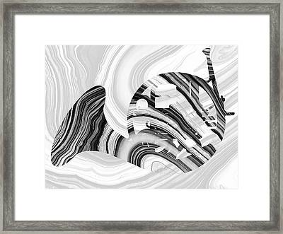Marbled Music Art - French Horn - Sharon Cummings Framed Print
