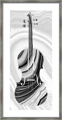 Marbled Music Art - Violin - Sharon Cummings Framed Print