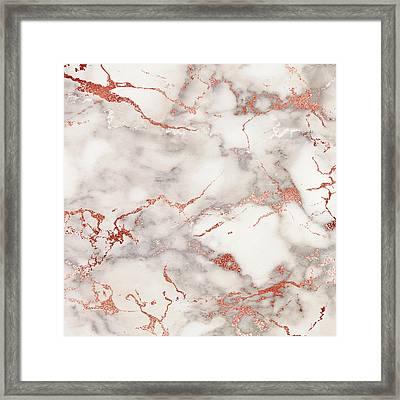 Marbled Rose Framed Print