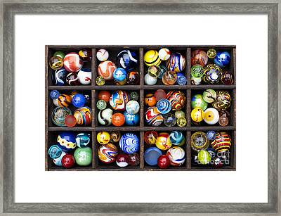 Marbleous Framed Print by Tim Gainey