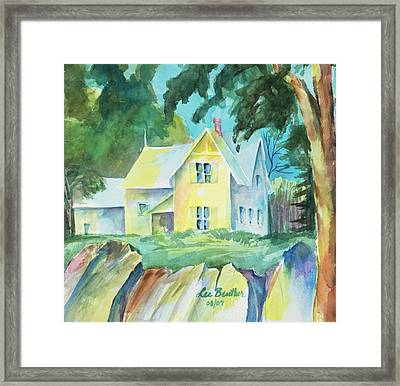 Marblehead Cottage Framed Print
