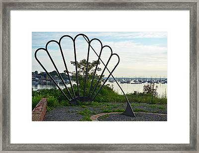Marblehead Harbor Shell Sundial Marblehead Ma Framed Print