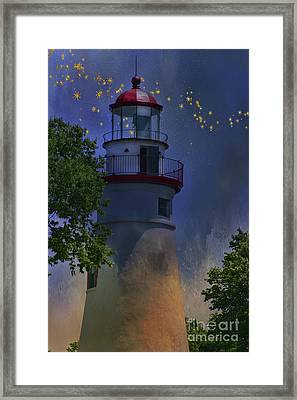 Marblehead In Starlight Framed Print by Joan Bertucci