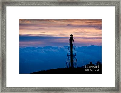 Marblehead Light Framed Print by Susan Cole Kelly