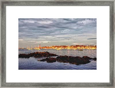 Framed Print featuring the photograph Marblehead Neck From Fort Beach by Jeff Folger