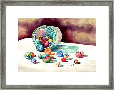 Marbles Framed Print by Sam Sidders
