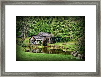 Framed Print featuring the photograph Marby Mill Landscape by Paul Ward