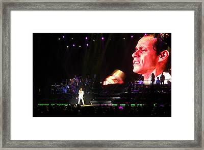 Marc Anthony On Stage Framed Print