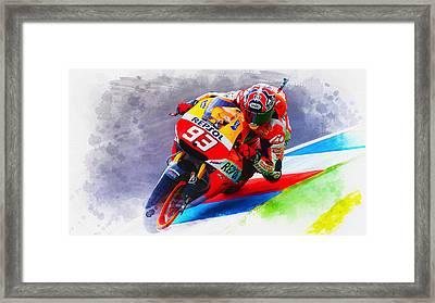 Marc Marquez Get Up Close Framed Print