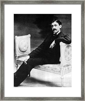 Marcel Proust, French Author Framed Print by Omikron