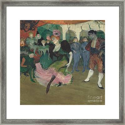 Marcelle Lender Dancing The Bolero In Chilperic Framed Print by MotionAge Designs