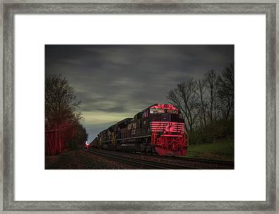 March 25 2017 Ns 871 At Lyle Siding Princeton In Framed Print by Jim Pearson