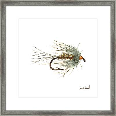 March Brown Spider Framed Print by Sean Seal