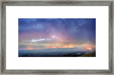 March Burning Of The Prairie Framed Print