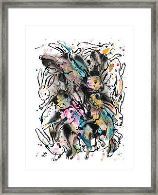 March Hares Framed Print by Zaira Dzhaubaeva