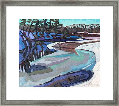 March Ice Framed Print by Phil Chadwick